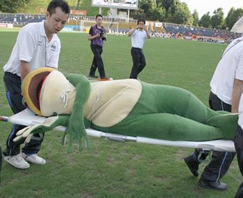 frog-mascot-dies
