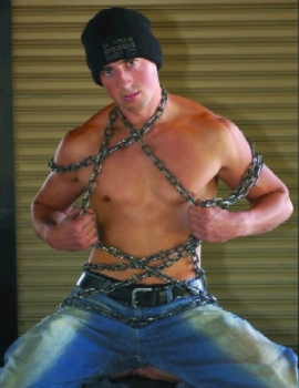Brian Buck in chains