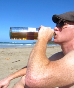 Scotch on beach