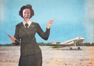 Ken as KLM stewardess