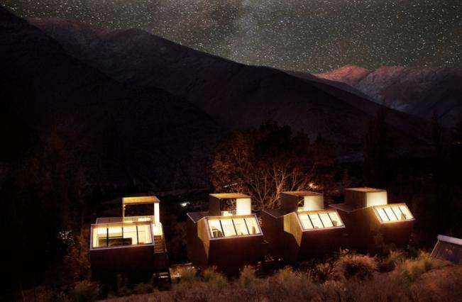 Cabins night