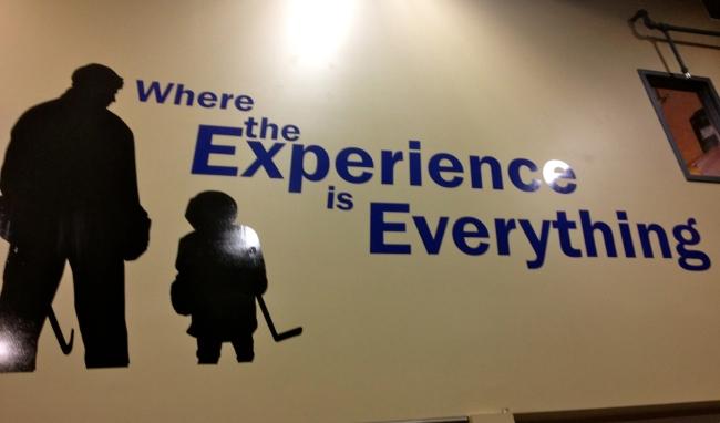 Hockey rink mural